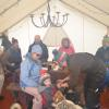Many people in the tent makes it even warmer!